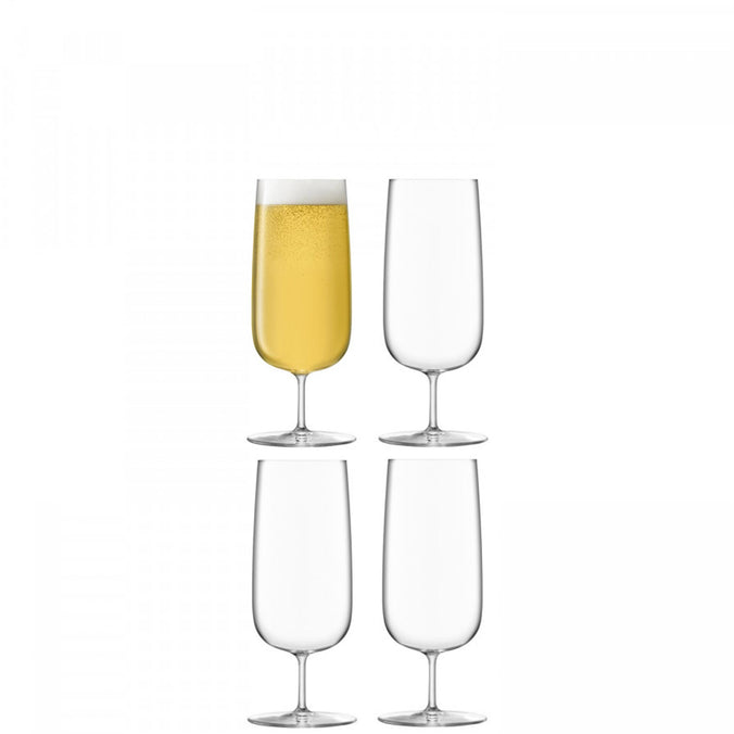 LSA Borough Pilsner Glass 440ml, Set of 4