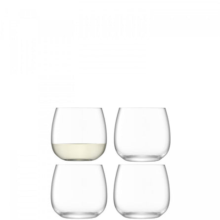 LSA Borough Stemless Glass, Set of 4