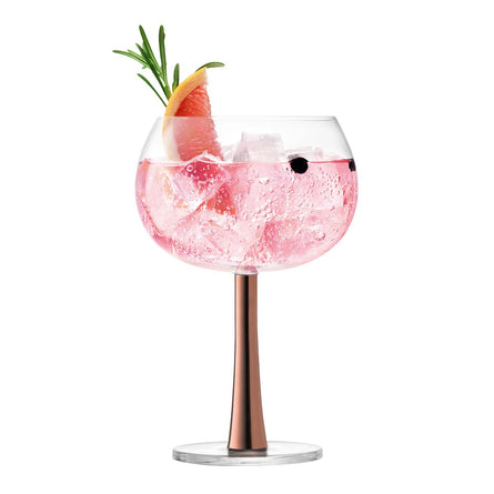 LSA Gin Balloon Glass 420ml Copper x 2