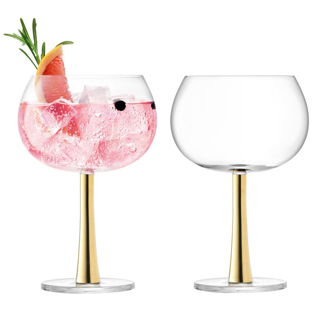 LSA Gin Balloon Glass 420ml Gold x 2
