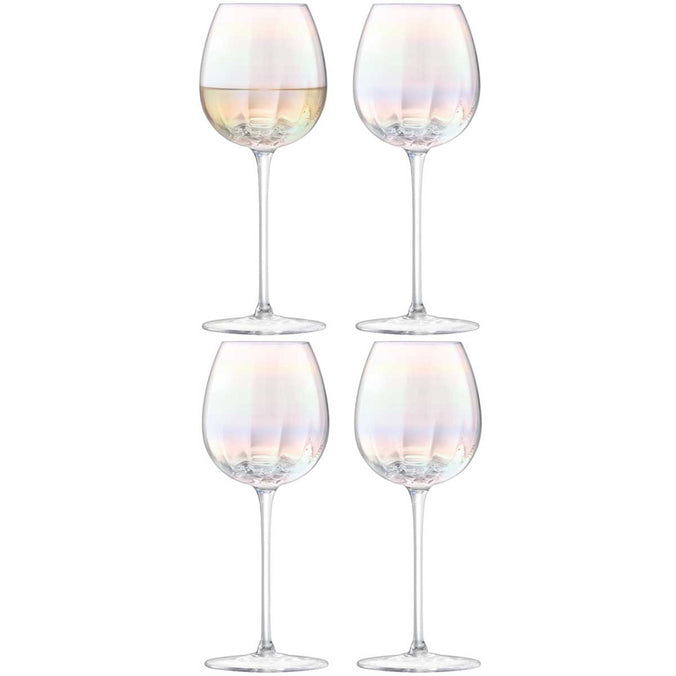 LSA Pearl White Wine Glass 325ml, Set of 4