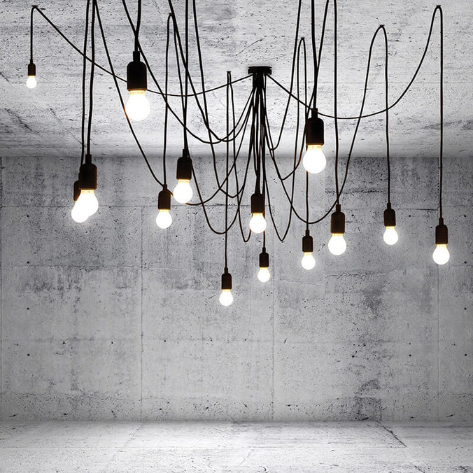 Seletti Maman Hanging Lamp, Set of 14 LED Lights - Frosted Bulbs