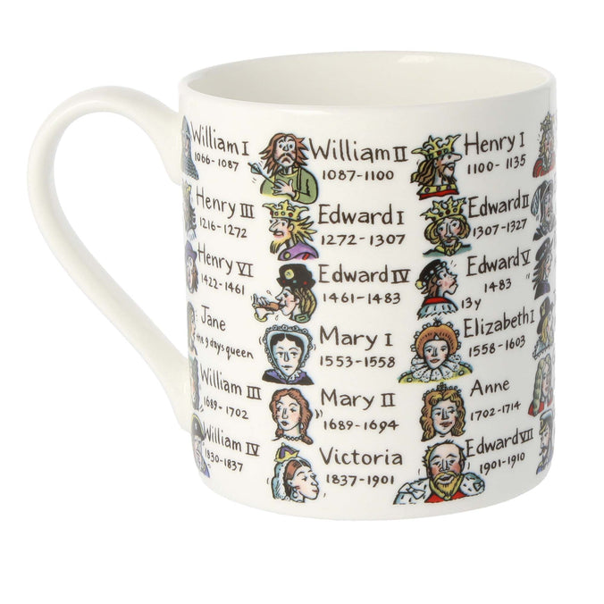 Mclaggan Smith Mugs Educational Kings & Queens with Dates Mug