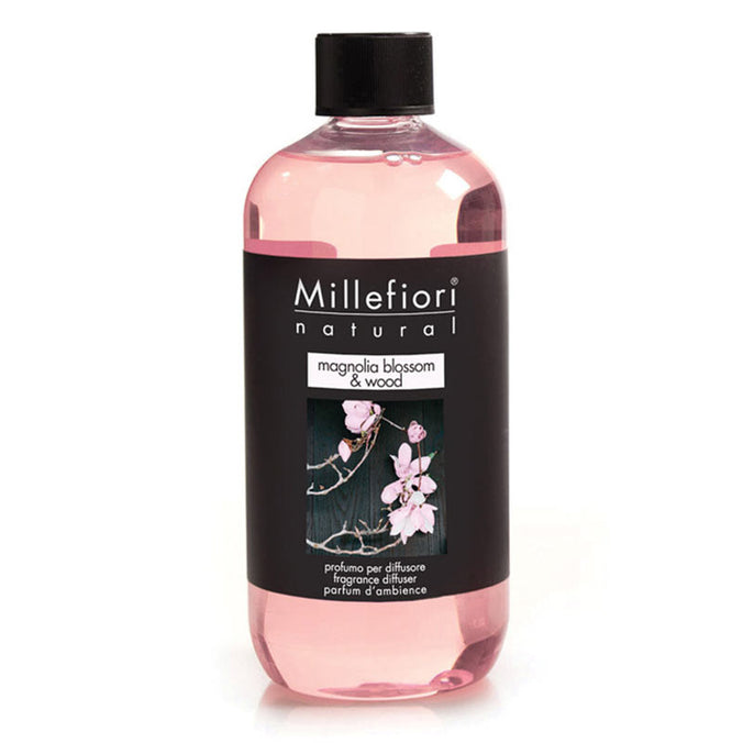 Millefiori Natural Fragrance Reed Diffuser Oil, 500ml - Magnolia Blossom & Wood