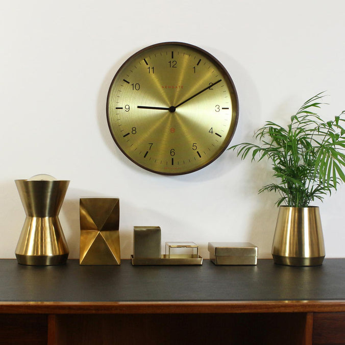 Newgate Clocks Mr Clarke Arabic Wall Clock 40cm, Spun Brass