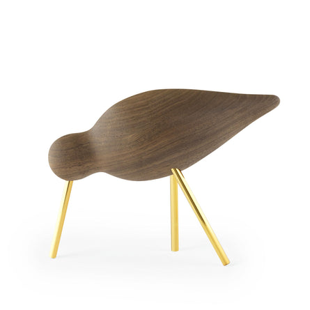 Normann Copenhagen Shorebird Medium 20th Anniversary Edition, Walnut/Brass