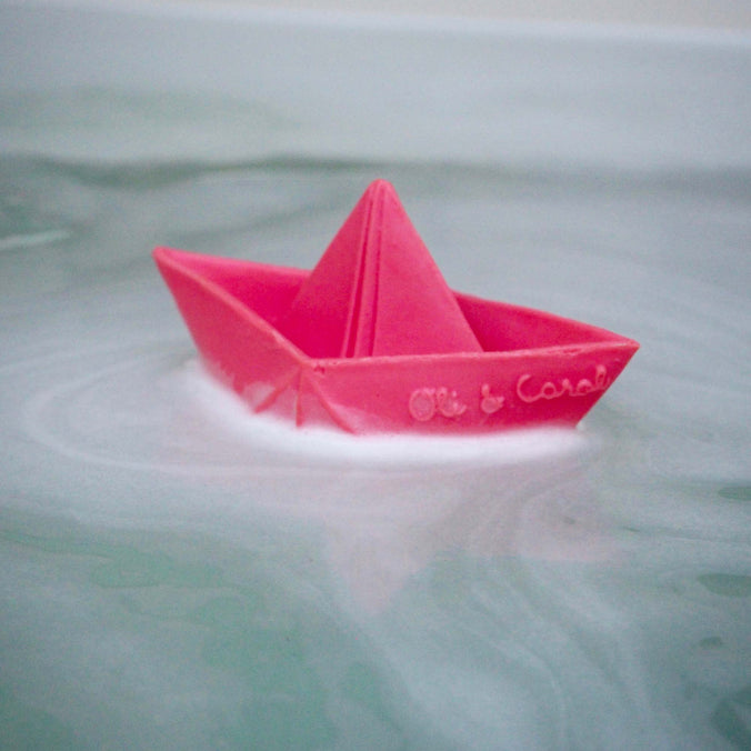 Oli & Carol Origami Boat Teether & Bath Toy