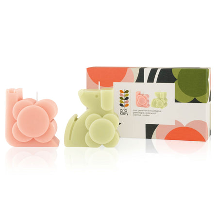 Orla Kiely Moulded Candle Gift Set, 2 x 200g
