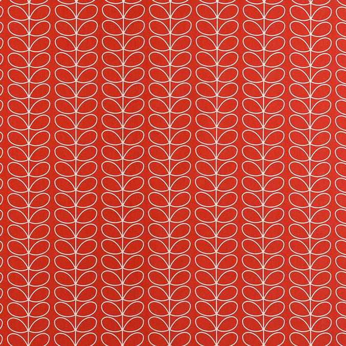 Orla Kiely Linear Stem Fabric, Tomato