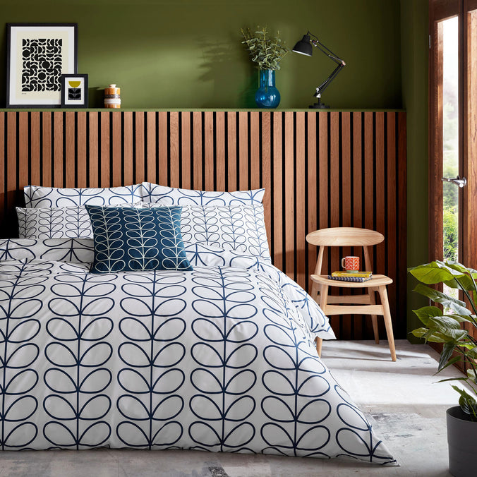 Orla Kiely Linear Stem Whale Bedding