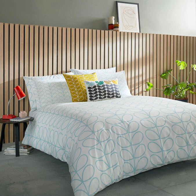 Orla Kiely Linear Stem Neptune Blue Bedding