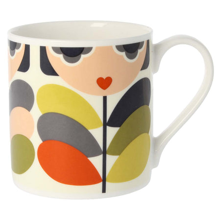Orla Kiely Quite Big Mug, Lady Stem