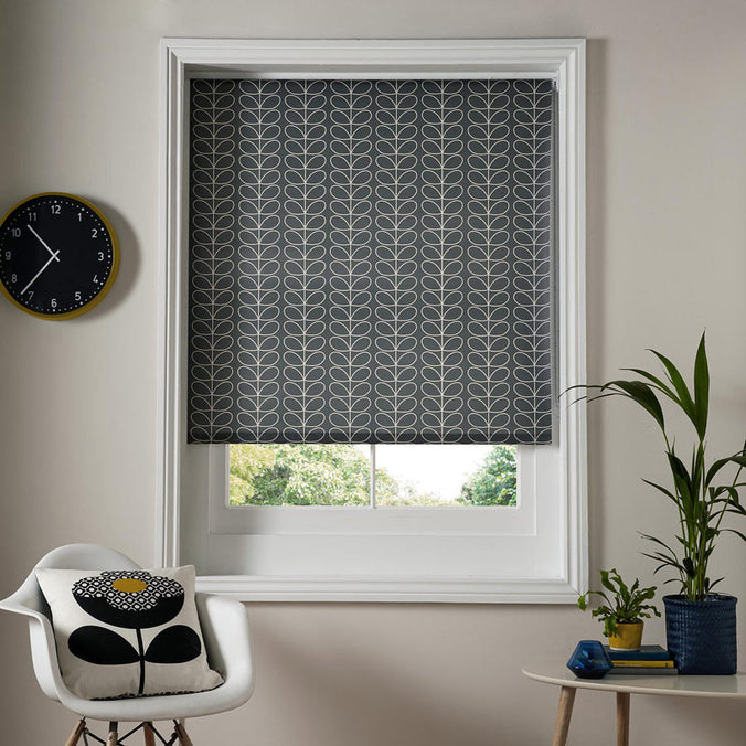 Orla Kiely Ready Made Roller Blind, Linear Stem Cool Grey