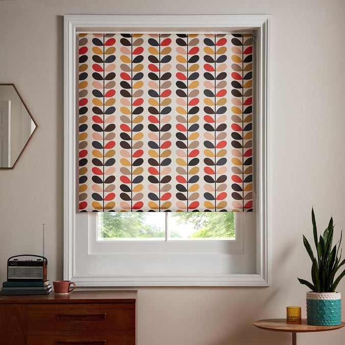 Orla Kiely Ready Made Roller Blind, Multi Stem Tomato