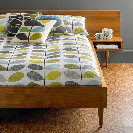 Orla Kiely Scribble Stem Seagrass & Duckegg Bedding
