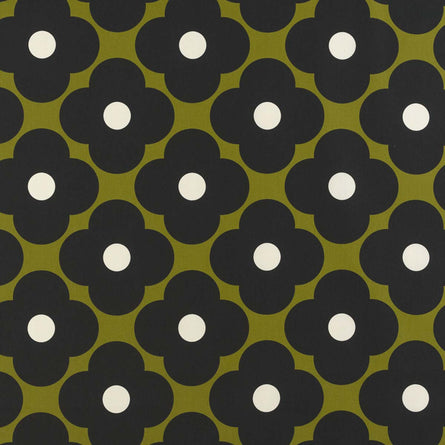 Orla Kiely Spot Flower Fabric, Seagrass
