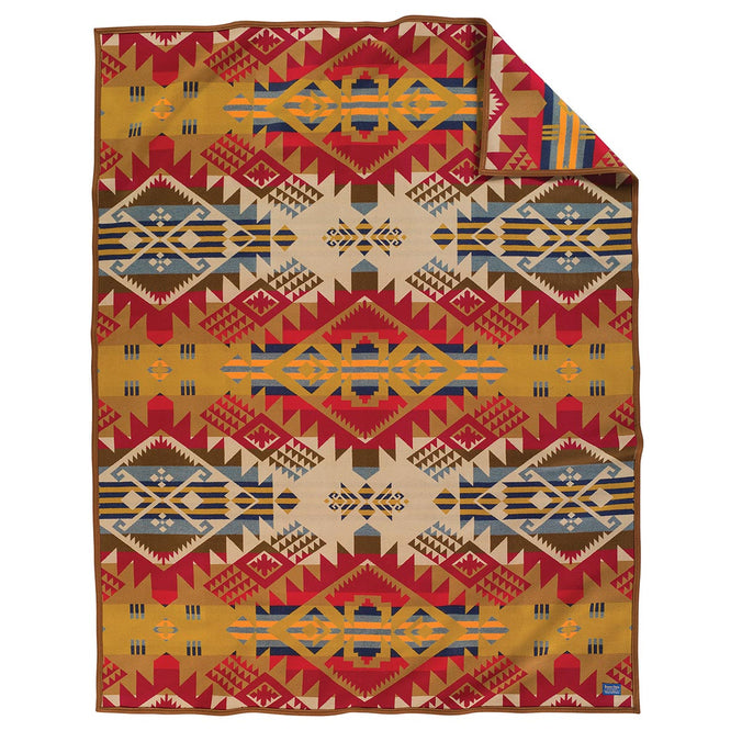 Pendleton Jaquard Blanket, Journey West Gold 163x203cm