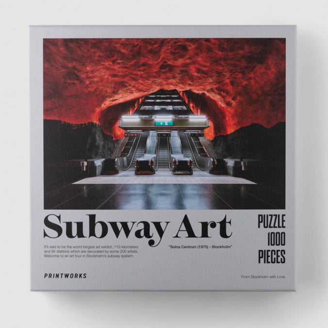 Printworks Jigsaw Puzzle, Subway Art Fire