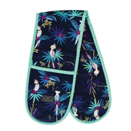 Sara Miller Double Oven Gloves, Tahiti Cockatoo Blue