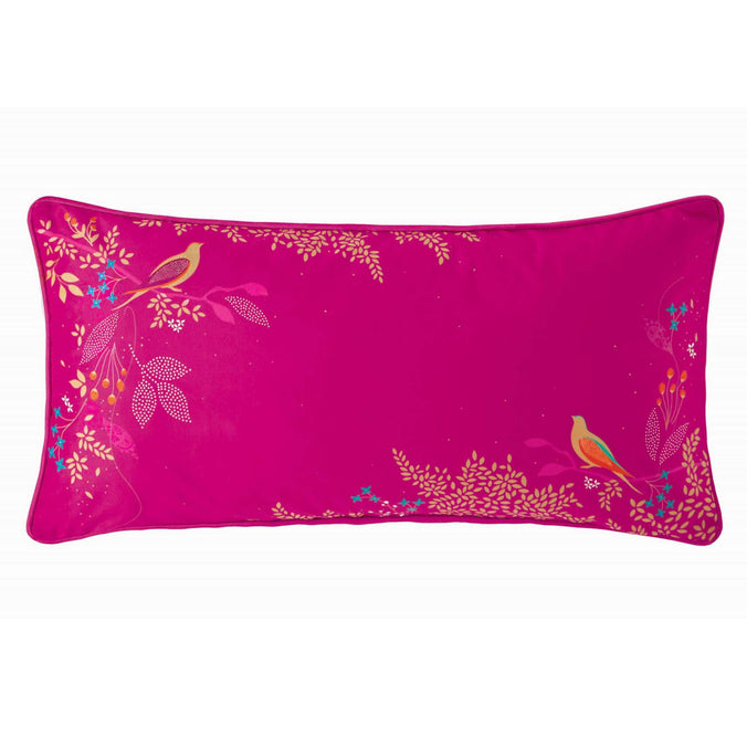Sara Miller Cerise Birds Cushion, 30x60cm