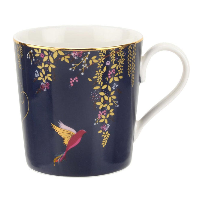 Sara Miller Chelsea Collection Hummingbird Mug - Navy 0.34L