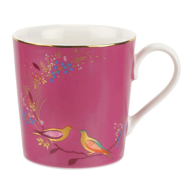 Sara Miller Chelsea Collection Pink Bird Mug - Pink 0.34L