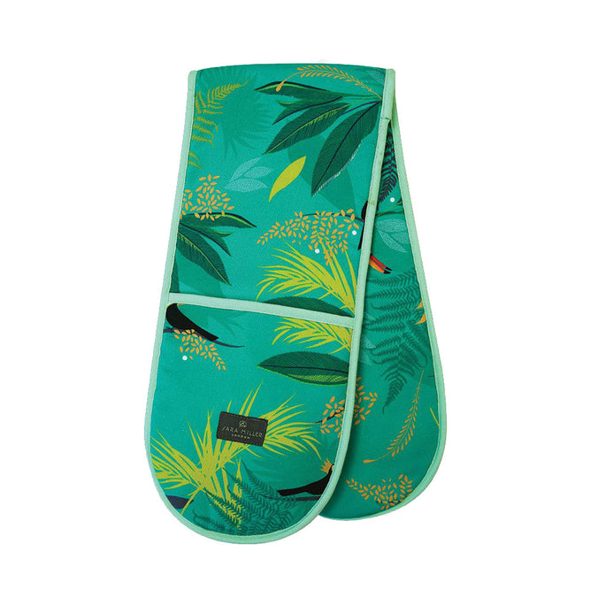 Sara Miller Double Oven Gloves, Toucan
