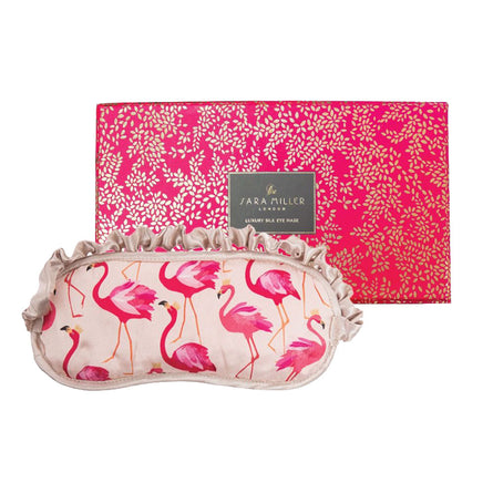 Sara Miller Silk Eye Mask, Flamingo
