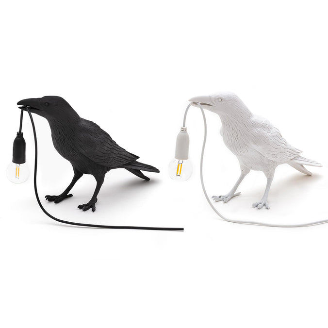 Seletti Bird Indoor/Outdoor Table Lamp, Waiting White