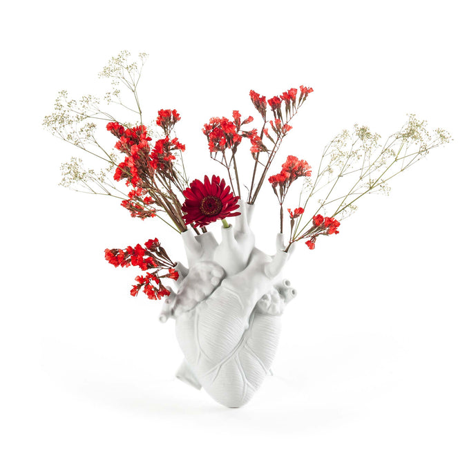 Seletti Love in Bloom, Porcelain Heart Vase