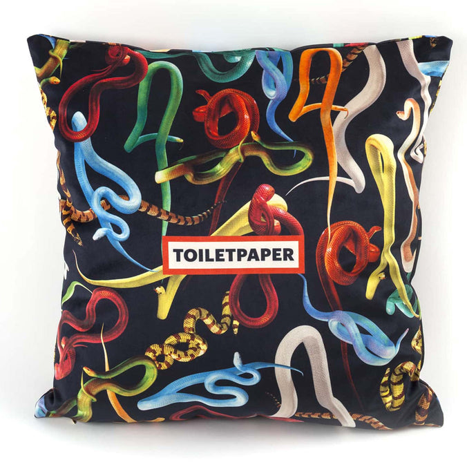 Seletti Wears Toiletpaper Cushion Cover, Snakes