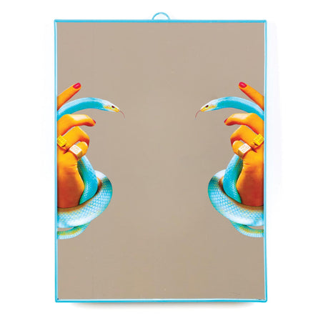 Seletti Wears Toiletpaper Wall Mirror Big, Hands with Snakes