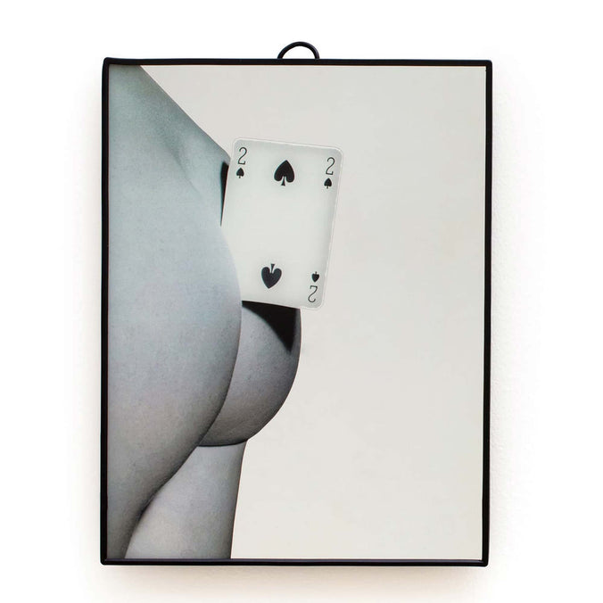 Seletti Wears Toiletpaper Wall Mirror Small, Two of Spades