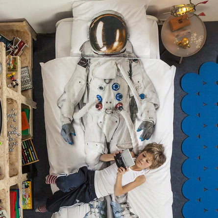 Snurk Astronaut Duvet Set, Single 135x200cm