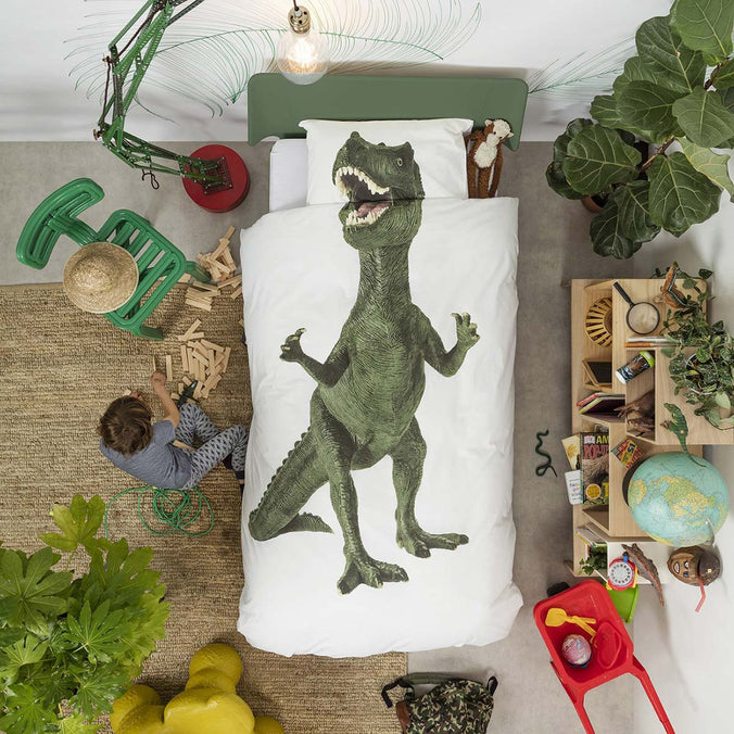 Snurk Dinosaur Duvet Set, Single 135x200cm