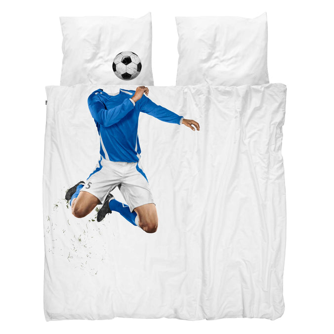 Snurk Football Champ Blue Duvet Set, Double 200x200cm
