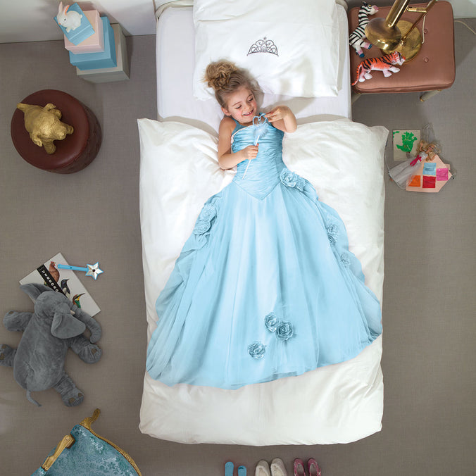 Snurk Princess Blue Duvet Set, Single 135x200cm