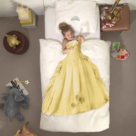 Snurk Princess Yellow Duvet Set, Single 135x200cm