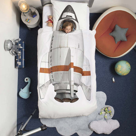 Snurk Rocket Duvet Set, Single 135x200cm