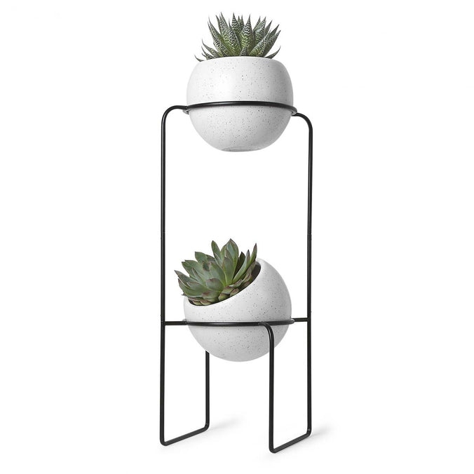Umbra Nesta Freestanding Tiered Planter, White