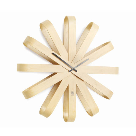 Umbra Ribbonwood Wall Clock, Natural - 51.4cm