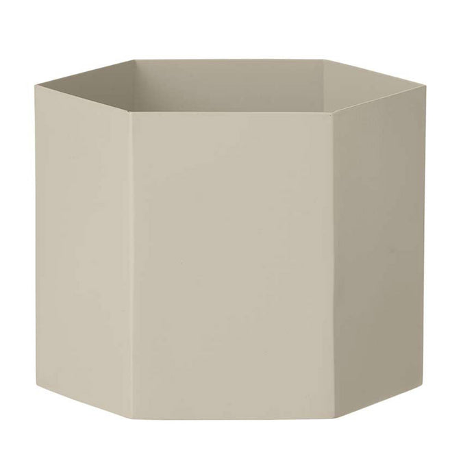 Ferm Living Metal Hexagon Pot, Extra Large