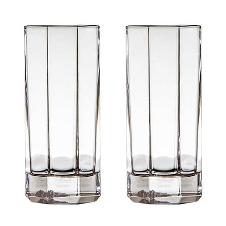 Versace Medusa Lumiere, Long Drink Glasses (Pair)