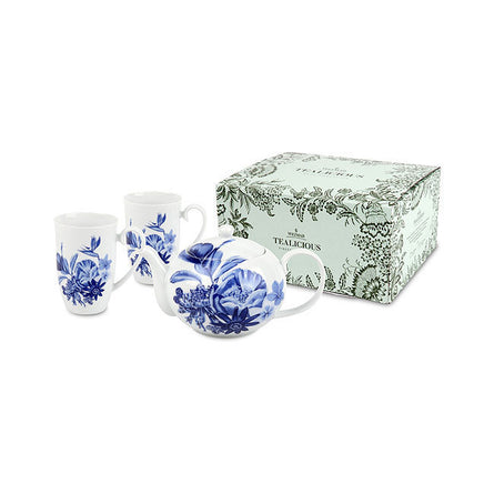 Weimar Tealicious Teapot And Mug Set, Blue Paradise