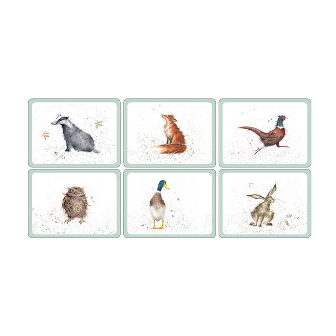 Wrendale Country Set Wildlife Placemats, Set of 6