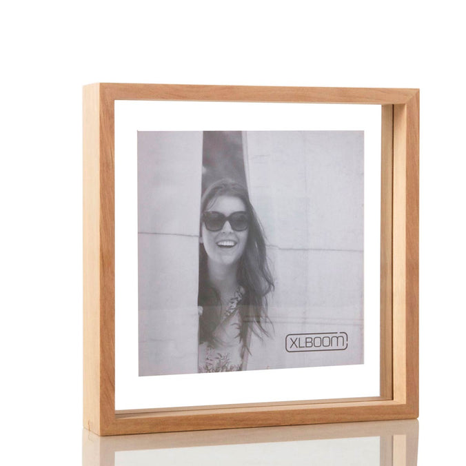 XL Boom Floating Box Photo Frame Square 25x25cm, Timber
