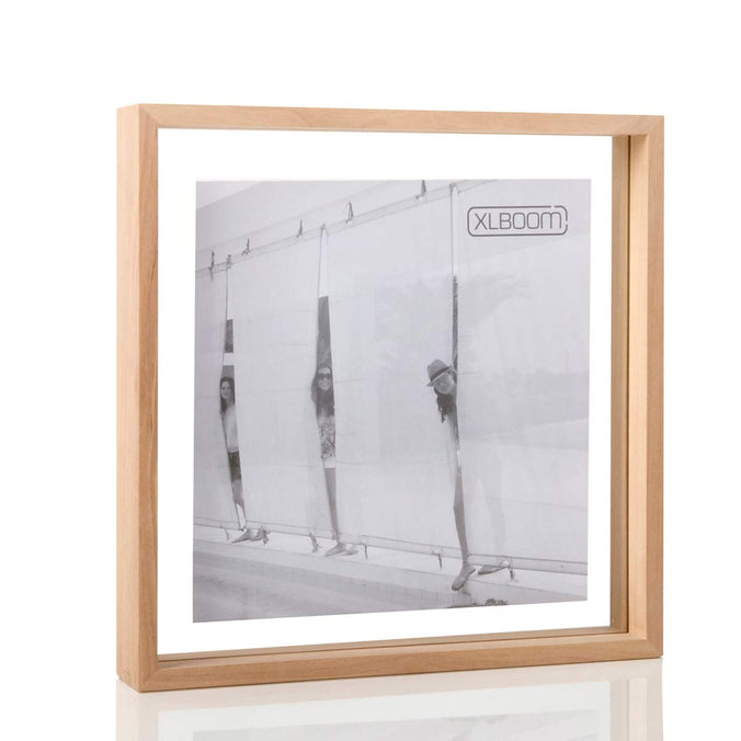 XL Boom Floating Box Photo Frame Square 32x32cm, Timber