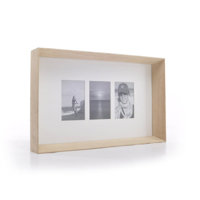 XL Boom Prado Photo Frame, Timber - Holds 3 Photos