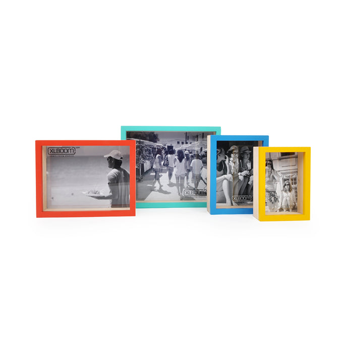 XL Boom Trixie Photo Frame Set of 4, Mixed Colours