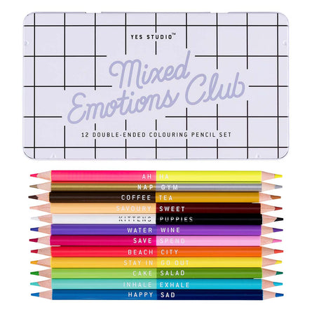 Yes Studio Colouring Pencils, Mixed Emotions